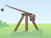 Shooting-game-with-a-catapult